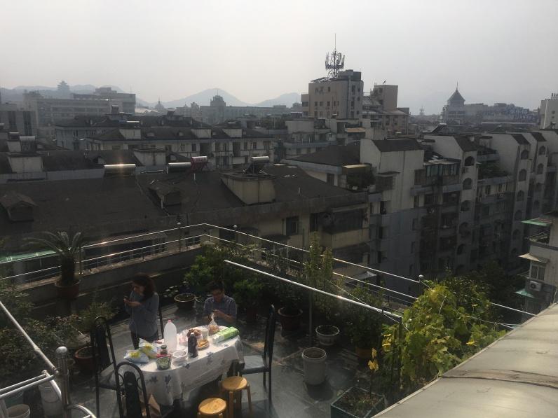 Vista da un appartamento in centro